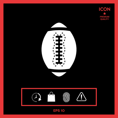 tactics: American Football Ball icon vector illustration on black background.