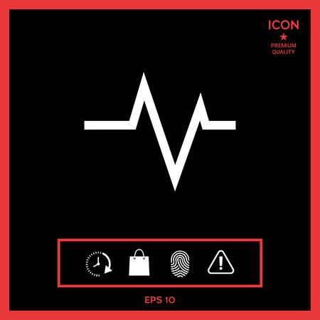 ECG wave - cardiogram symbol. Medical icon