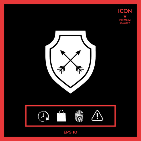 Shield with arrows. Protection icon Stock Vector - 85119749
