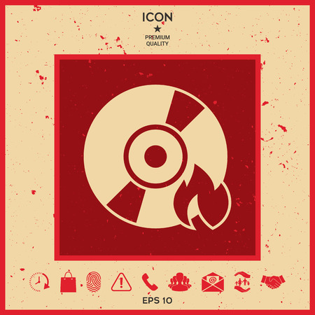 Burn CD or DVD icon
