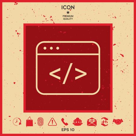 html: Code editor icon