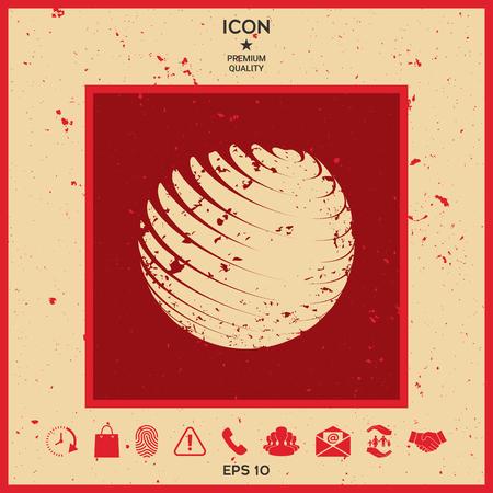 twist: Earth logo design with grunge effect Illustration