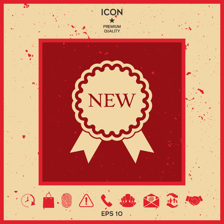 New offer icon with ribbons