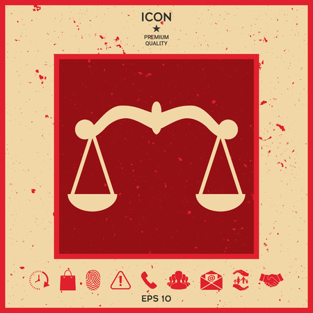 scale of justice: Scales, Icon