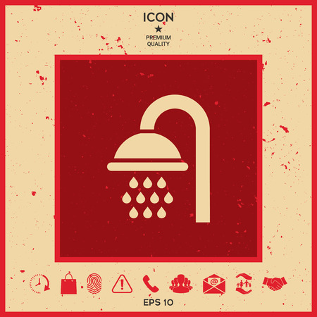 Shower icon vector illustration.
