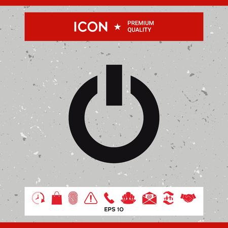 Power button icon Illustration