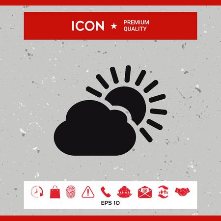 ray of light: Sun cloud icon