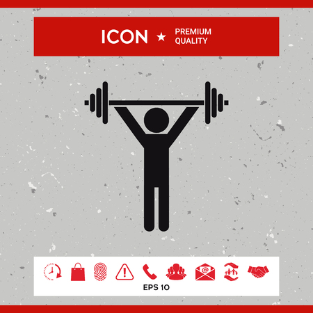 sports equipment: Weightlifting, dumbbell training icon