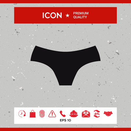 Women panties, the silhouette. Menu item in the web design Stock fotó - 85453529