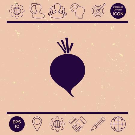 Beet root icon Illustration