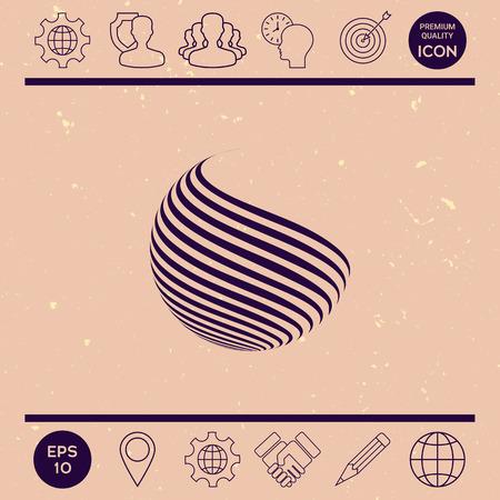 twist: Earth logo design with stripes Illustration