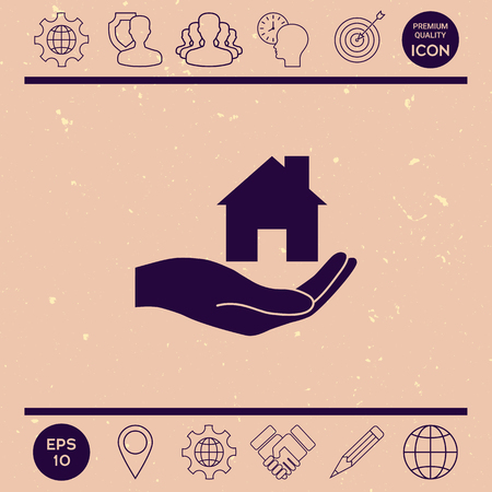 small business: Hand holding home Illustration