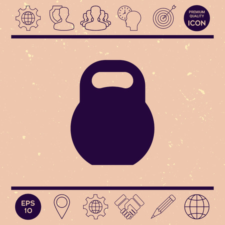Kettlebell icon Stock Vector - 85633613