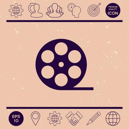 film industry: Reel film symbol icon