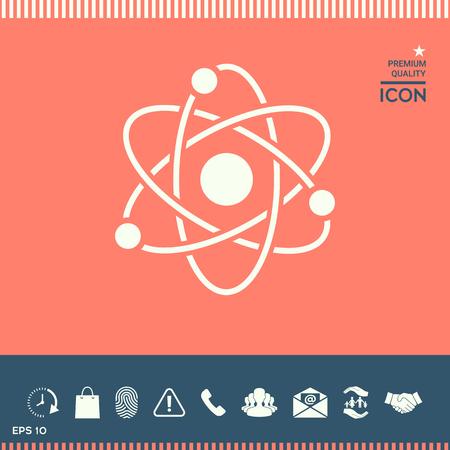 heavy metal: Atom symbol - science icon