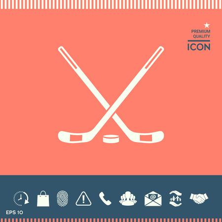 hockey goal: Hockey icon vector illustration.