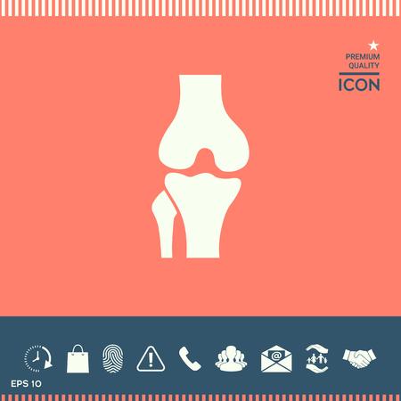 Kniegewricht pictogram vector illustratie.