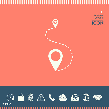 drawing pin: Location Icon vector illustration.