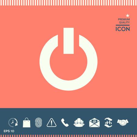 Power button icon Stock Vector - 85456993