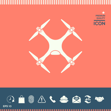 Quadcopter, drone icon