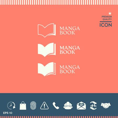 Set of Elegant logo with book symbol
