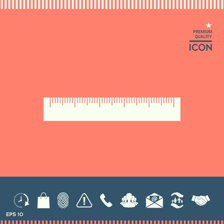 mathematics: The ruler icon