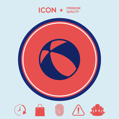 Childrens toy, bouncy ball - icon Ilustracja