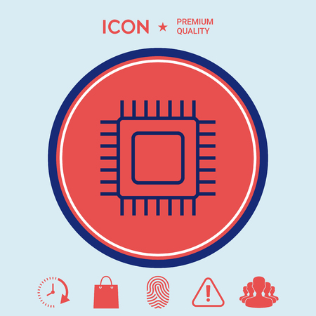 electronic components: CPU icon