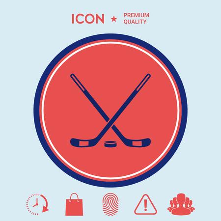 hockey goal: Hockey icon Illustration