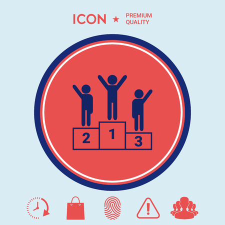 Pedestal - podium icon