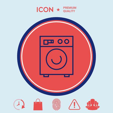 washhouse: Washing machine linear icon