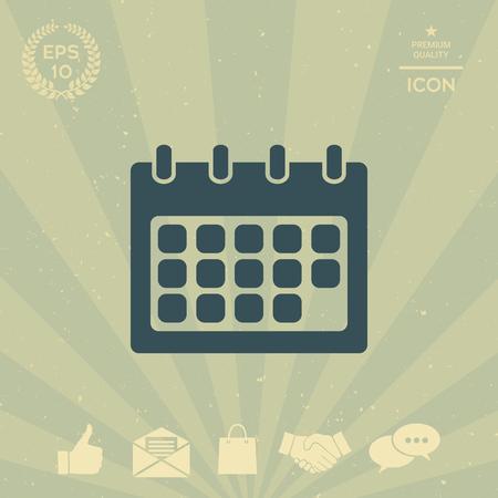 paper note: Calendar symbol icon