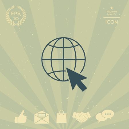 Go to web, internet icon