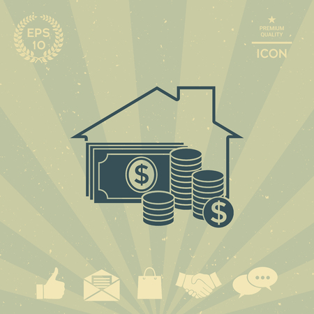 business: Home insurance icon Illustration