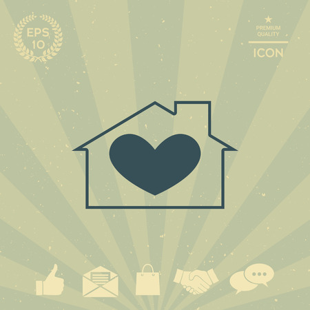 business: House with heart symbol