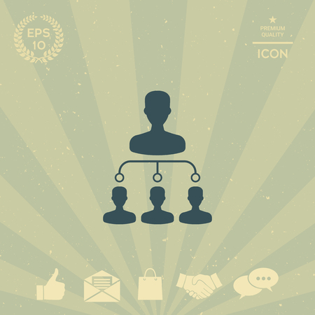 business: Hierarchy icon Illustration