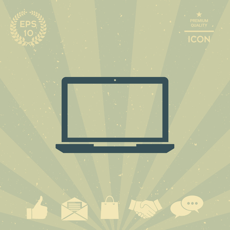 business: Laptop Icon Illustration