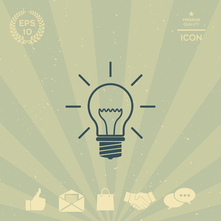 technology background: Light bulb - new ideas