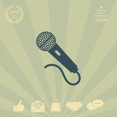 technology background: Microphone icon Illustration