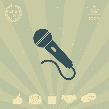 technology background: Microphone symbol icon
