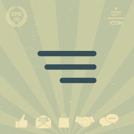 携帯アプリとウェブサイトのモダンなメニュー アイコン  イラスト・ベクター素材