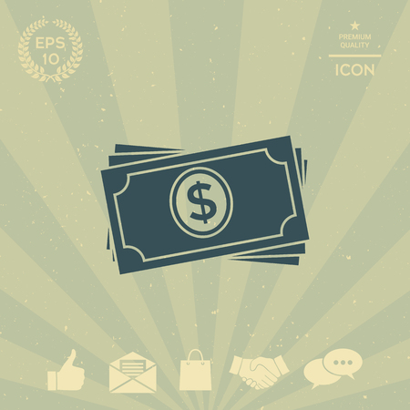 business: Money banknotes stack icon