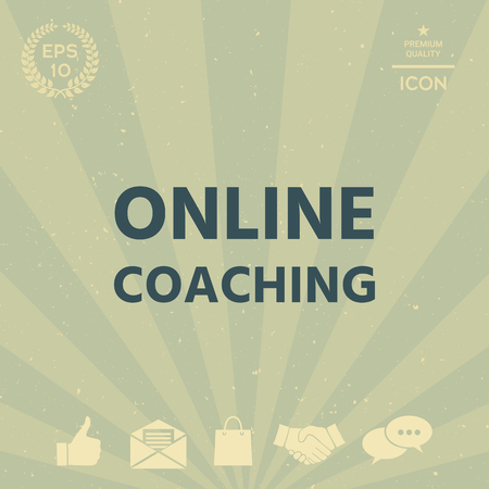 business: Online coaching icon