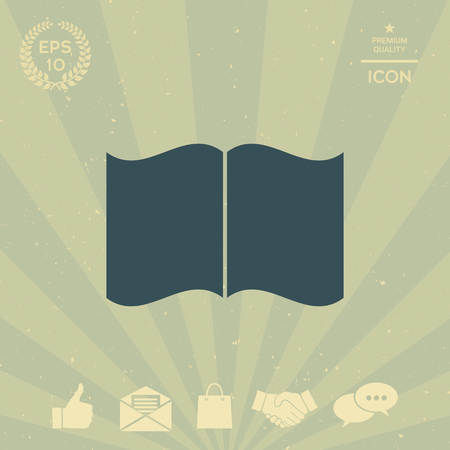 business: Open book icon