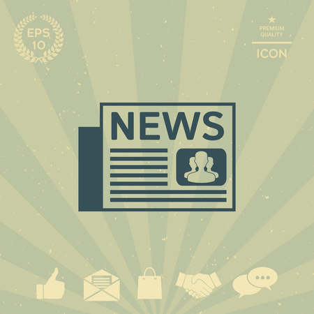 business: Newspapers icon Illustration