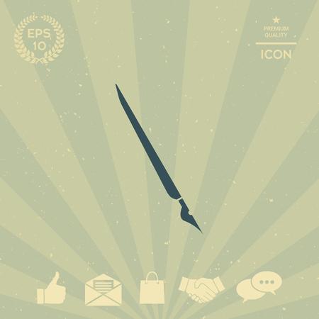 business: Quill pen, fountain pen icon