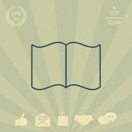 business: Open book symbol icon
