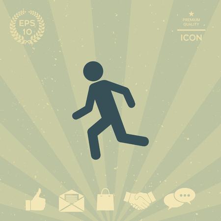 business: Running man, run icon