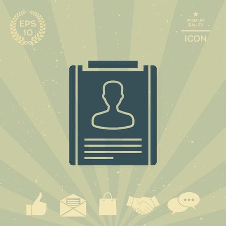 business: Resume icon Illustration