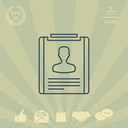 business: Resume line icon